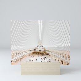 The Oculus at the World Trade Center | Calatrava #architecture #society6 Mini Art Print
