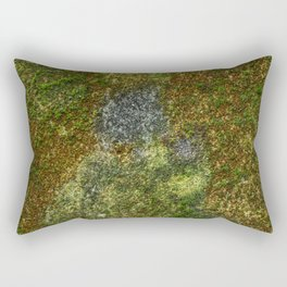 Old stone wall with moss Rectangular Pillow