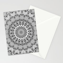 Black and white mandal Stationery Cards