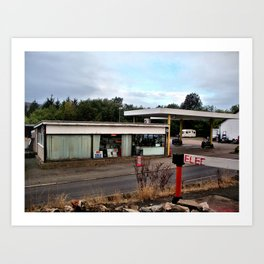garage near alston, cumbria/ oct 2010 Art Print