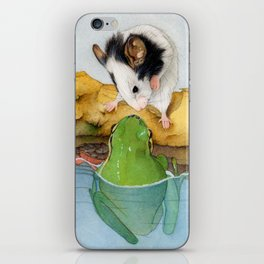 The mouse and the frog iPhone Skin