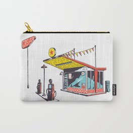 Retro Gas Station Illustration Carry-All Pouch