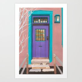 Santa Fe Door Art Print
