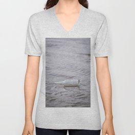 Message In A Bottle Unisex V-Neck