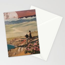 When the Sky Goes Pink Stationery Cards