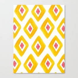 Yellow Illustration, Red and Yellow, Summer Viber, Home Decor, Bath Mat, iPhone Case Canvas Print