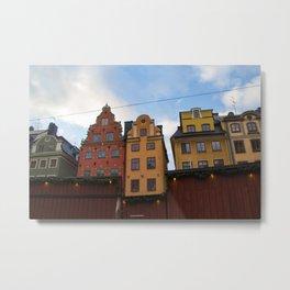 Stockholm Christmas Market Metal Print