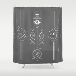 Mystical signs  Shower Curtain