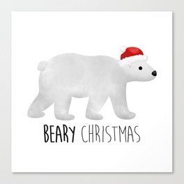 Beary Christmas | Polar Bear Canvas Print