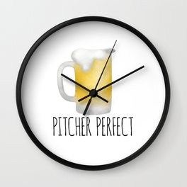 Pitcher Perfect Wall Clock