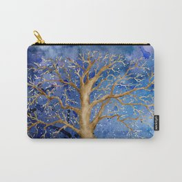 Watercolor Abstract Oak Tree Night Scene Carry-All Pouch
