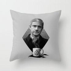 The blogging army doctor Throw Pillow