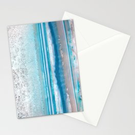 Teal Agate Stationery Cards
