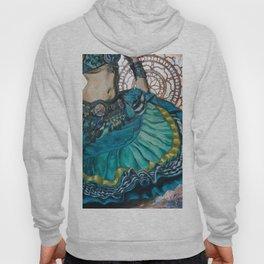 Turquoise Twirling Hoody