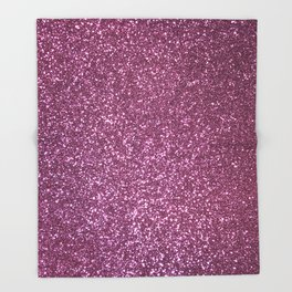 Pink Lavender Glitter with Silvery Highlights Throw Blanket