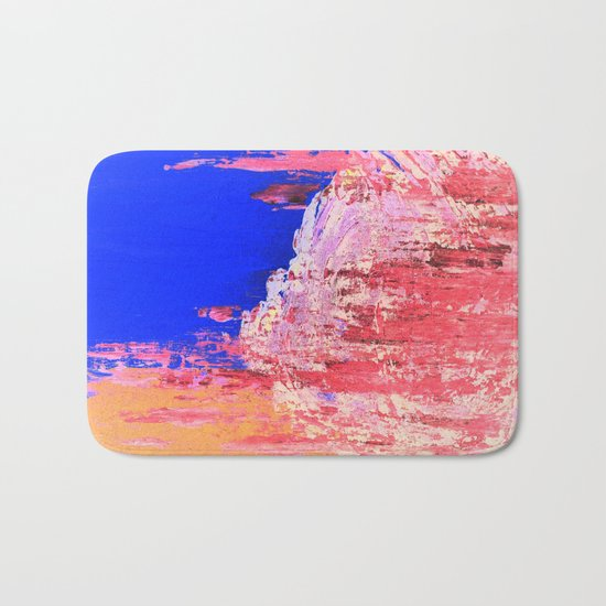 Into the Mist Pantone Color of the Year 2016 Abstract Bath Mat