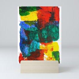 Block Swipes v1 Mini Art Print