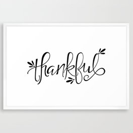 Thankful Framed Art Print