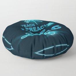 Teach Preach & Drop the Mic Floor Pillow