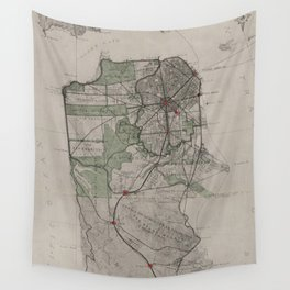 Vintage Map of San Francisco CA (1905) Wall Tapestry