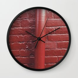 Red Gutter Wall Clock