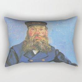 Vincent van Gogh - Portrait of Joseph Roulin sitting at a table (1888) Rectangular Pillow
