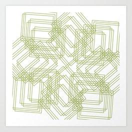 Green Circle Art Print