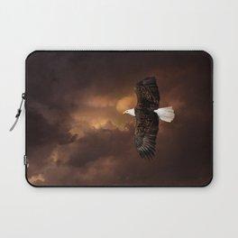 Bald Eagle in Flight Laptop Sleeve