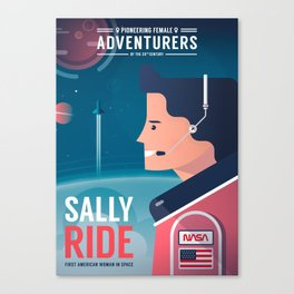 Pioneering Female Adventurers #03 - Sally Ride Canvas Print