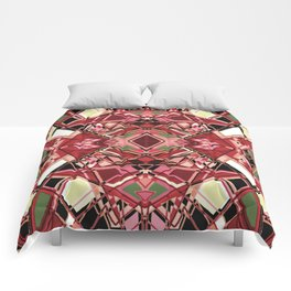 Fragmented Geometric Abstract Design Comforters