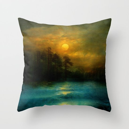Hope, in the turquoise water. Throw Pillow