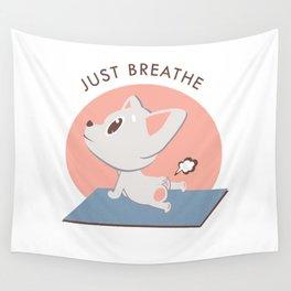 Yoga Kawaii Dog Wall Tapestry