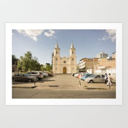 Quito's Church Art Print