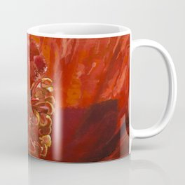 Blaze Orange Hibiscus Flower Coffee Mug