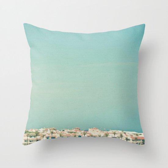 Mediterranean Skyline Throw Pillow