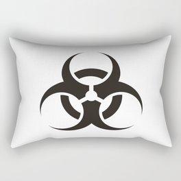 White Biologic Hazard Warning signal Rectangular Pillow