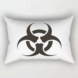 White Biologic Hazard Warning signal Rectangular Pillow