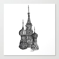 moscow Canvas Prints featuring Moscow by Name