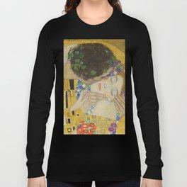 The Kiss - Closeup - Gustav Klimt Long Sleeve T-shirt