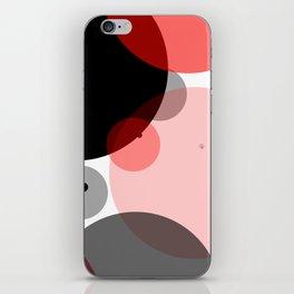 Circle Series - Red iPhone Skin