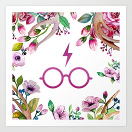 Harry P Flower Art Print