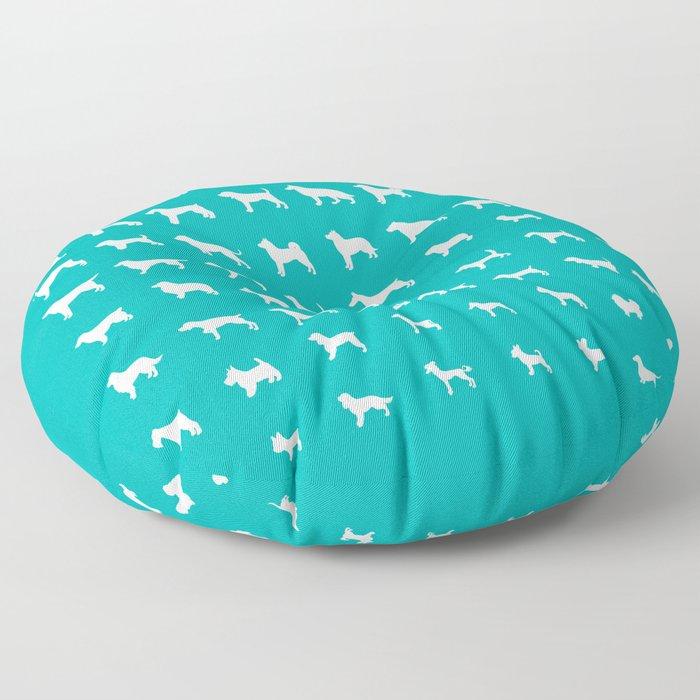 All Dogs (Aqua) Floor Pillow