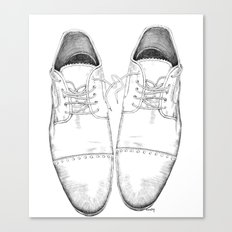 Shoes the drawing Canvas Print