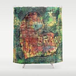 Permission Series: Brave Shower Curtain