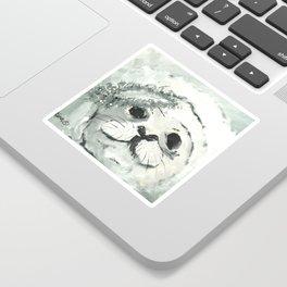 White Seal Sticker