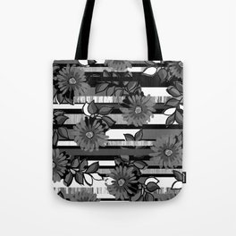 Floral Stripe Tote Bag