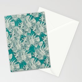 fish mirage teal Stationery Cards