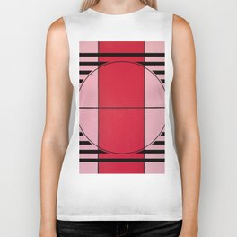 August - lined graphic Biker Tank