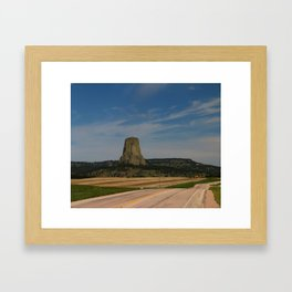 Road To Devils Tower Framed Art Print