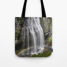 Rainbow Passing Through Narada Falls Tote Bag
